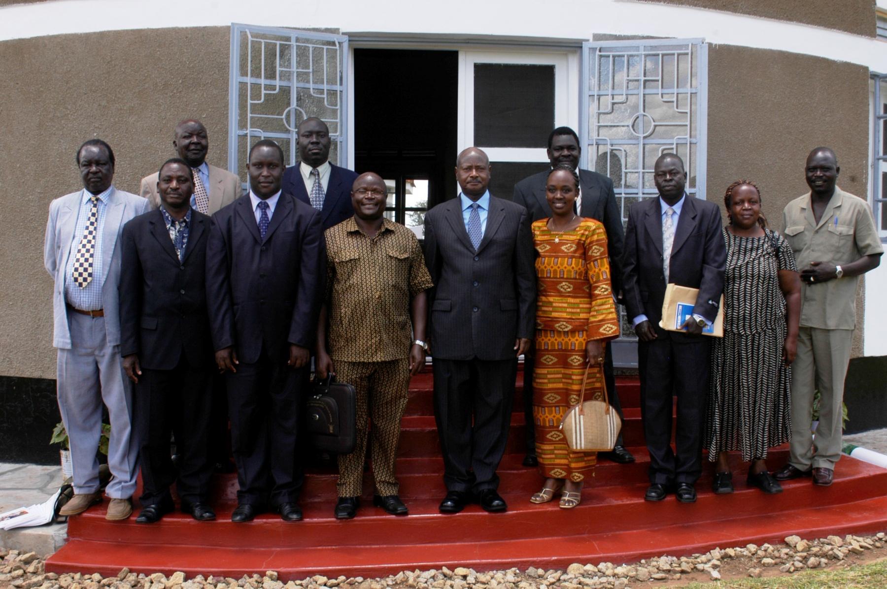 NGARA Team with H.E. President Yoweri Museveni