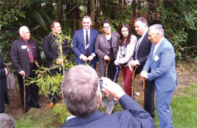 Commemorative tree planting at the official opening of the new
