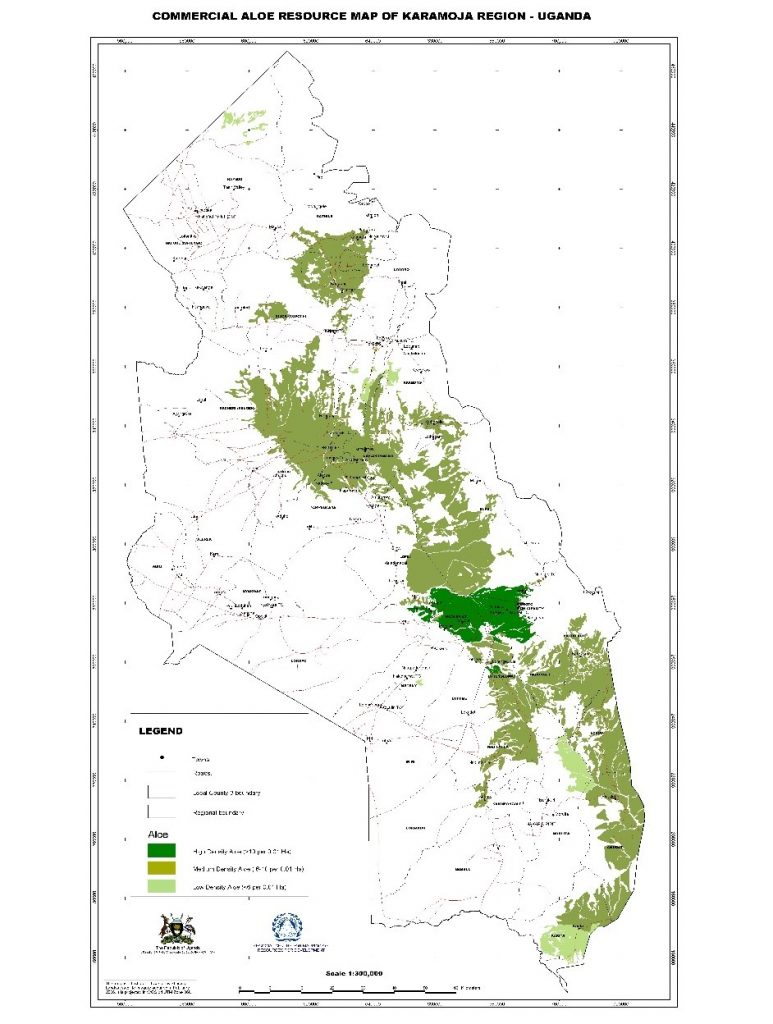 karamoja commercial aloe map