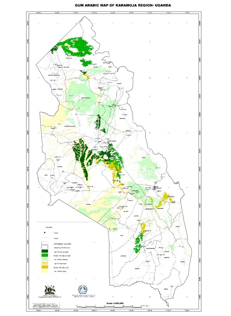 karamoja gum and resins map