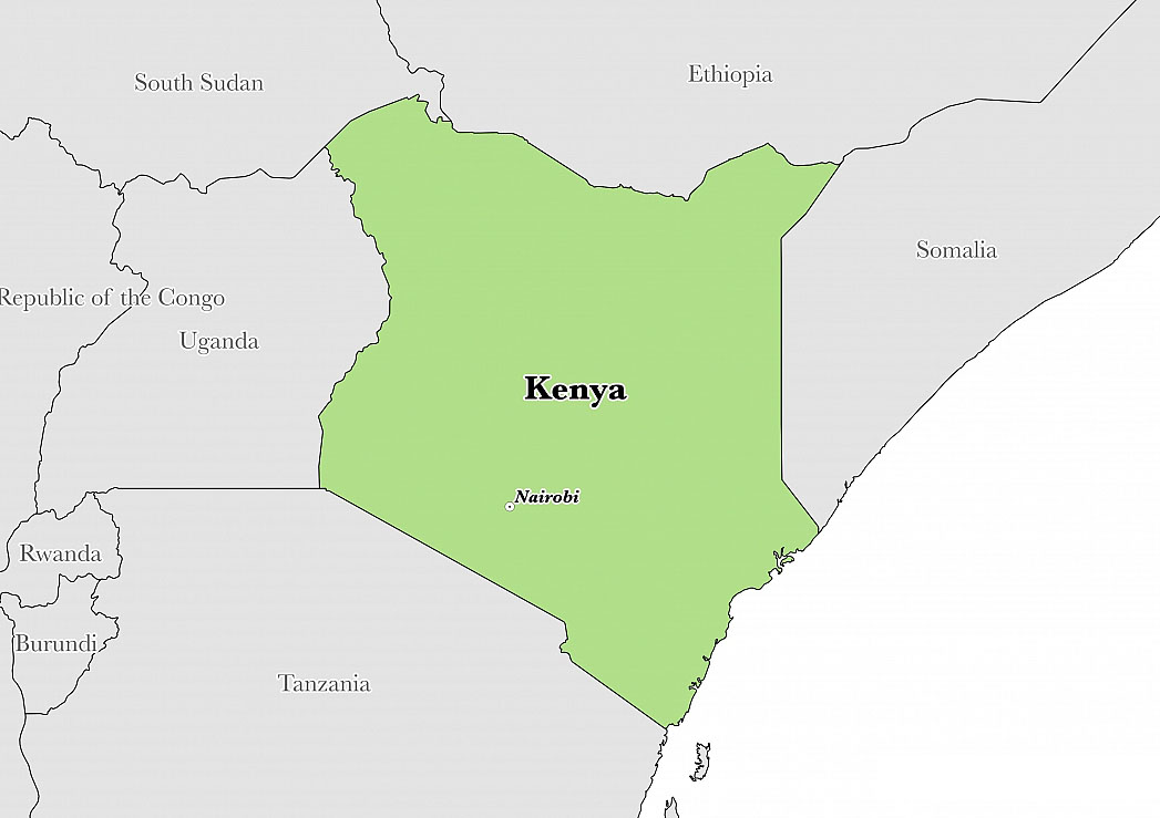 Kenya map -NGARA
